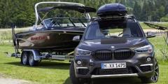 BMW X1 с прицепом