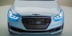 Hyundai Genesis - фары и решётка радиатора