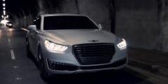 Hyundai Genesis в темноте