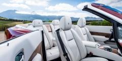Белый салон Rolls-Royce Dawn