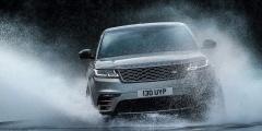 Range Rover Velar рассекает брызги