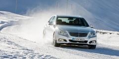 Mercedes E-класс - зимний тест-драйв
