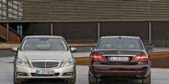 Mercedes E - вид спереди и сзади